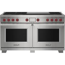 """See Details - 60"""" Dual Fuel Range - 6 Burners and Infrared Dual Griddle"""