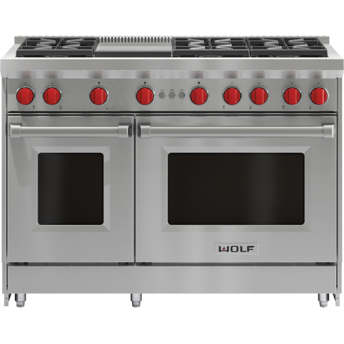 """Wolf - 48"""" Gas Range - 6 Burners and Infrared Griddle"""