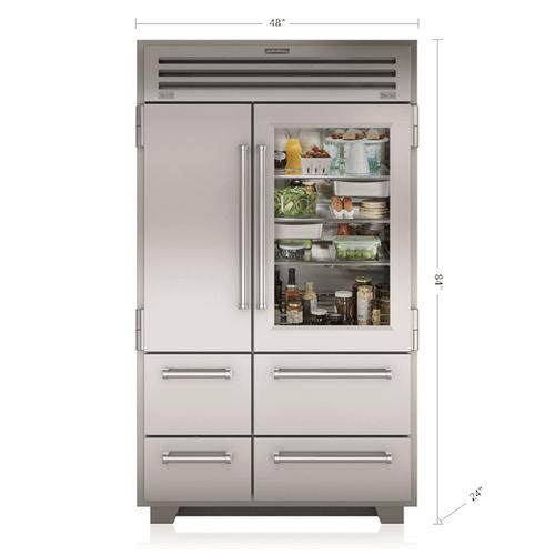 "Sub-Zero - 48"" PRO Refrigerator/Freezer with Glass Door"