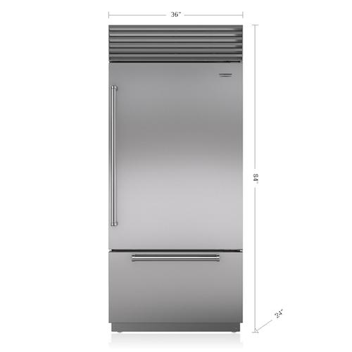 "Sub-Zero - 36"" Classic Over-and-Under Refrigerator/Freezer"