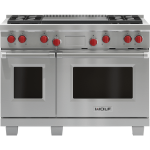 "Wolf Legacy Model - 48"" Dual Fuel Range - 4 Burners And Infrared Dual Griddle"