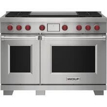 """See Details - 48"""" Dual Fuel Range - 4 Burners and Infrared Dual Griddle"""