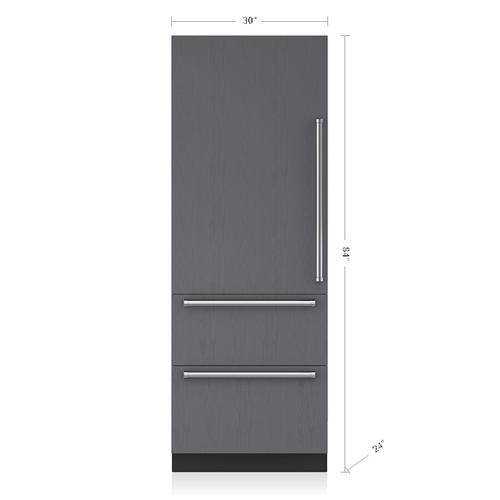 "Sub-Zero - 30"" Designer Over-and-Under Refrigerator with Internal Dispenser - Panel Ready"