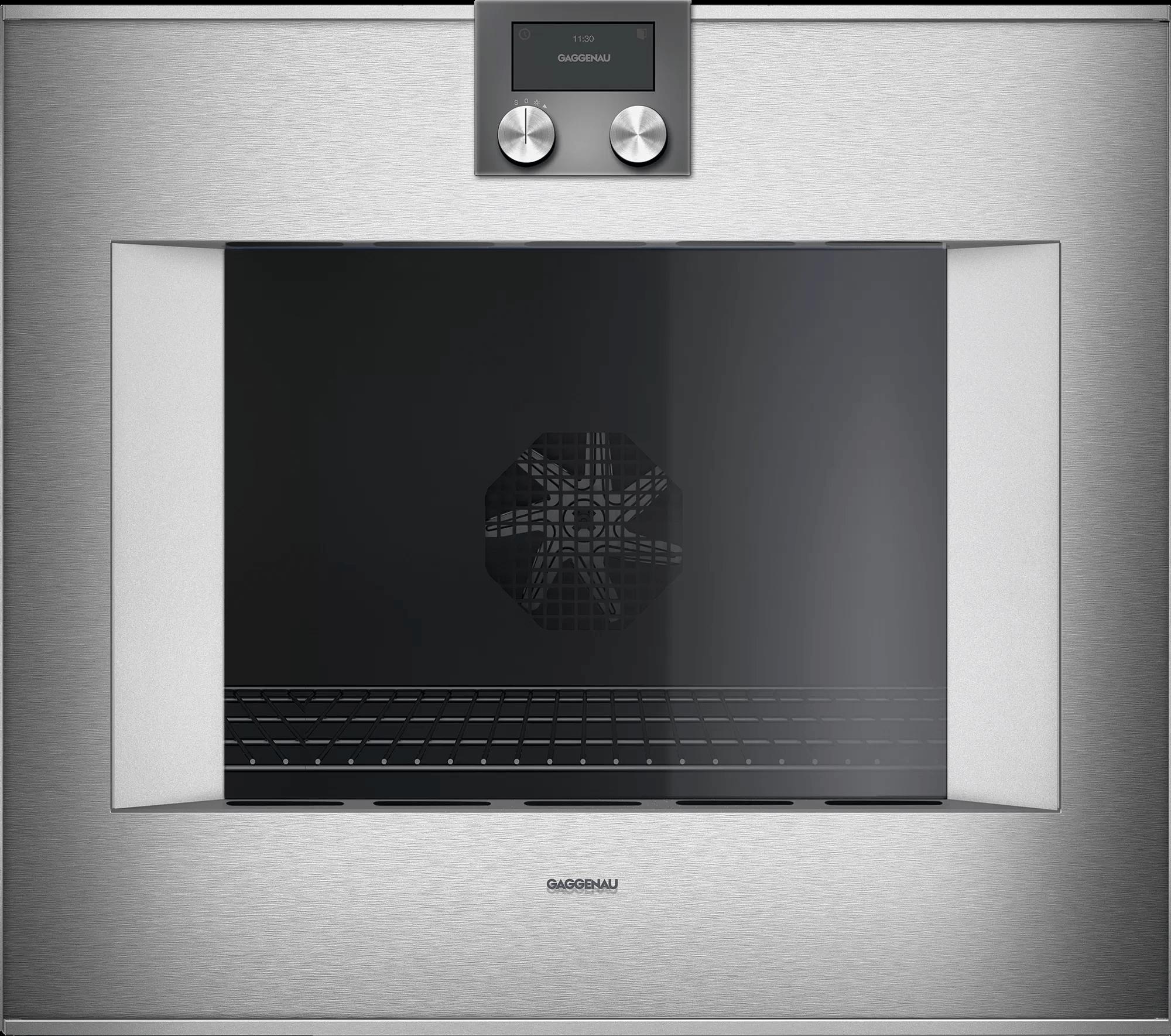400 Series Oven 30'' Door Hinge: Left, Door Hinge: Left, Stainless Steel Behind Glass Photo #1