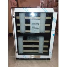 24-In Built-In High Efficiency Dual Zone Wine Refrigerator with Door Style - Stainless Steel Frame Glass, Door Swing - New - Open Box / Excellent Condition / Pick Up Only / Linthicum Md / ID:368770 CNTR