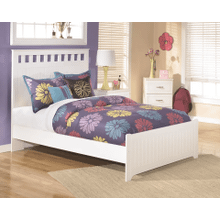 Lulu - White - Full Panel Bed