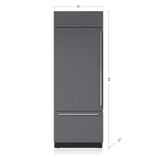 "Sub-Zero - 30"" Classic Over-and-Under Refrigerator/Freezer - Panel Ready"