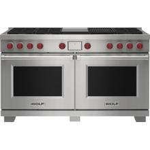 """See Details - 60"""" Dual Fuel Range - 6 Burners, Infrared Charbroiler and Infrared Griddle"""