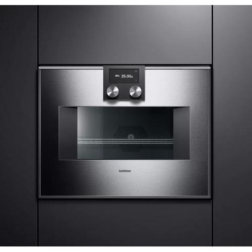 Gaggenau - 400 Series Combi-microwave Oven 24'' Door Hinge: Left, Door Hinge: Left, Stainless Steel Behind Glass