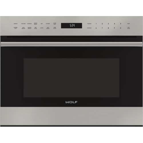 """Wolf - 24"""" E Series Transitional Drop-Down Door Microwave Oven"""