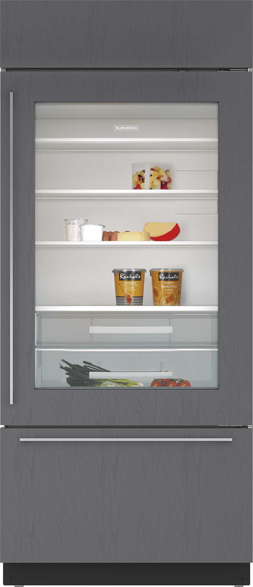 """Subzero36"""" Classic Over-And-Under Refrigerator/freezer With Glass Door - Panel Ready"""