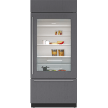 """See Details - 36"""" Classic Over-and-Under Refrigerator/Freezer with Glass Door - Panel Ready"""
