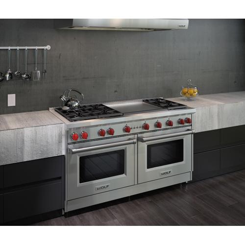 """Wolf - 60"""" Gas Range - 6 Burners and Infrared Dual Griddle"""