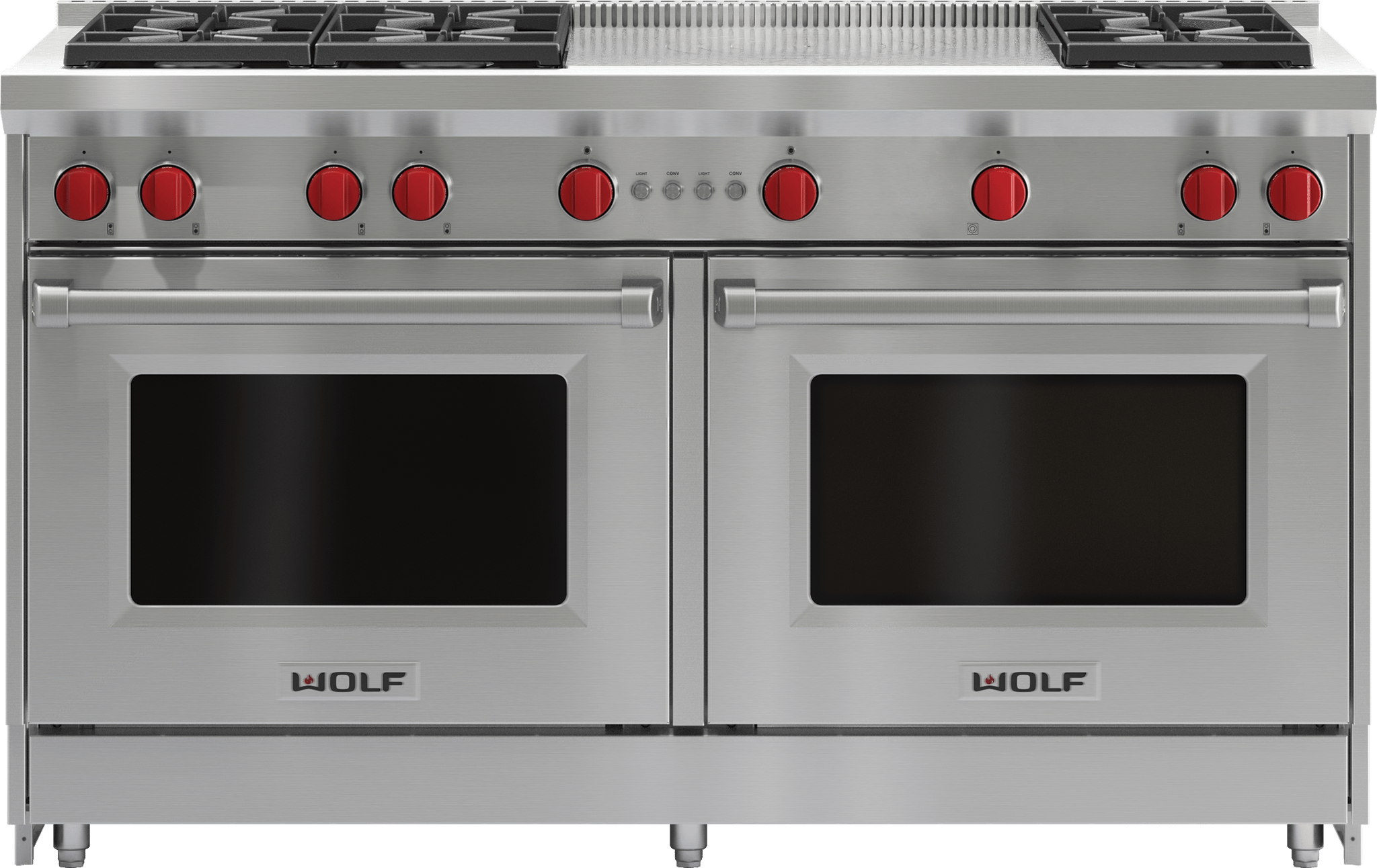 """Wolf60"""" Gas Range - 6 Burners And French Top"""