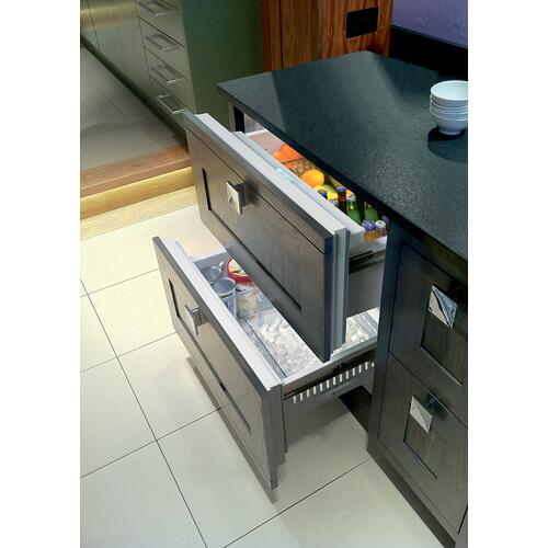"Sub-Zero - 36"" Designer Refrigerator/Freezer Drawers with Ice Maker - Panel Ready"
