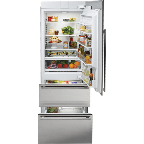 """Sub-Zero - 30"""" Designer Over-and-Under Refrigerator/Freezer with Ice Maker and Internal Dispenser - Panel Ready"""