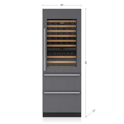 "Sub-Zero - 30"" Designer Wine Storage with Refrigerator Drawers - Panel Ready"