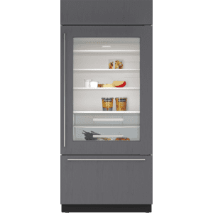 """Sub-Zero36"""" Classic Over-and-Under Refrigerator/Freezer with Glass Door - Panel Ready"""