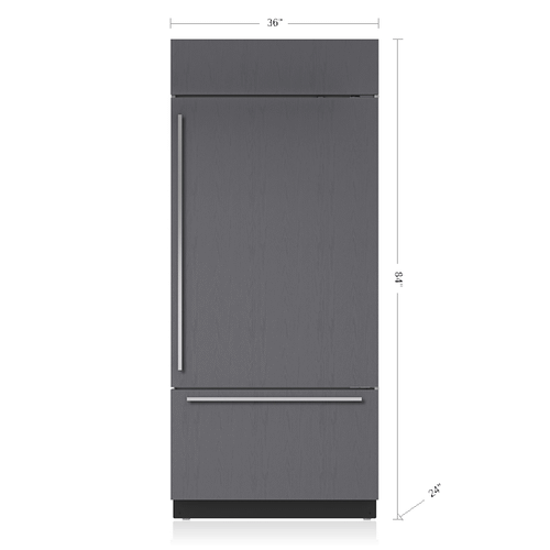 """Sub-Zero - 36"""" Classic Over-and-Under Refrigerator/Freezer with Internal Dispenser - Panel Ready"""