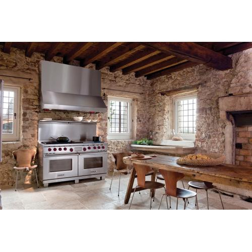 """Legacy Model - 60"""" Dual Fuel Range - 6 Burners, Infrared Charbroiler and Infrared Griddle"""