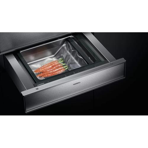 Gaggenau - 400 Series Vacuum-sealing Drawer Stainless Steel Behind Glass