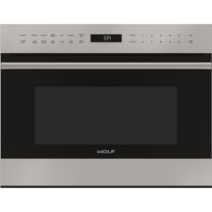 "Wolf24"" E Series Transitional Drop-Down Door Microwave Oven"