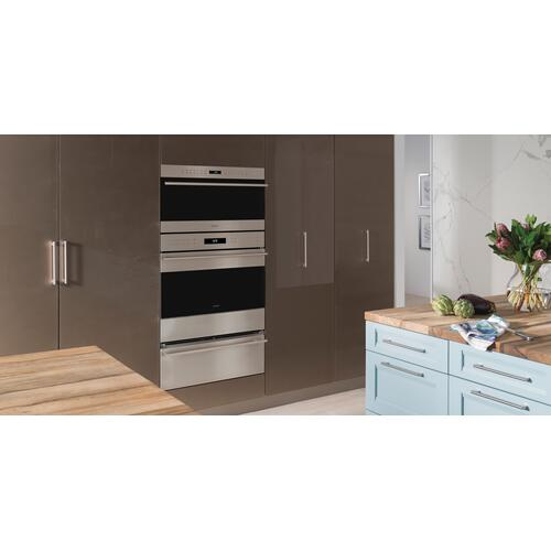 """Wolf - 30"""" E Series Transitional Drop-Down Door Microwave Oven"""
