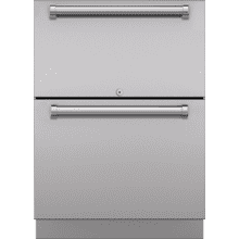 """See Details - 24"""" Designer Outdoor Refrigerator Drawers - Panel Ready"""
