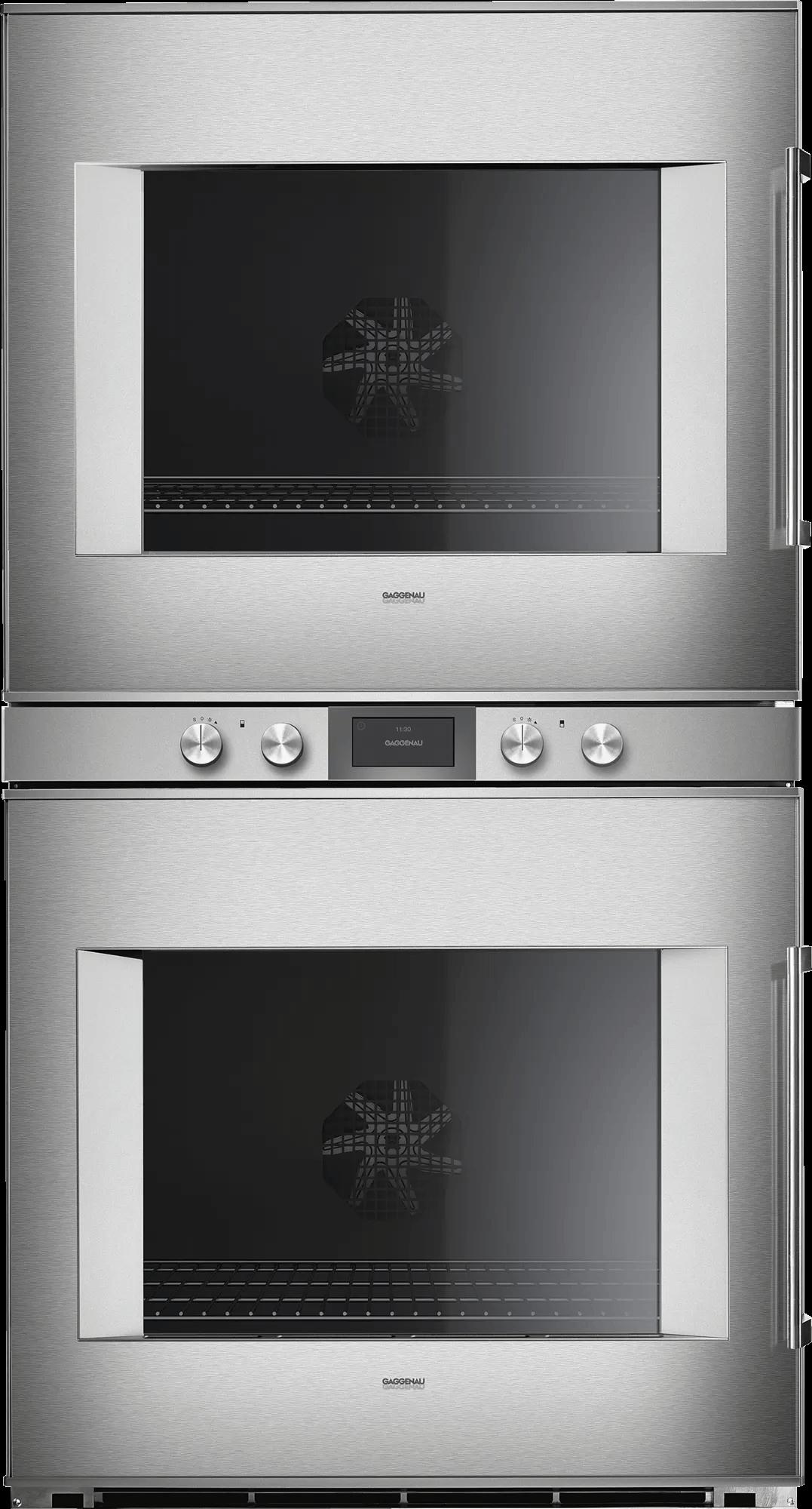 400 Series Double Oven 30'' Door Hinge: Left, Door Hinge: Left, Stainless Steel Behind Glass Photo #1