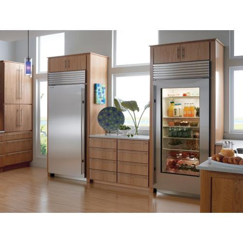 "Gallery - 36"" Classic Refrigerator with Glass Door"