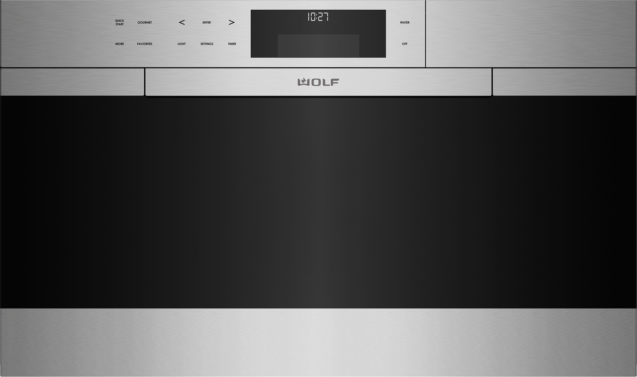 """Wolf30"""" M Series Contemporary Stainless Steel Convection Steam Oven With Retractable Handle"""
