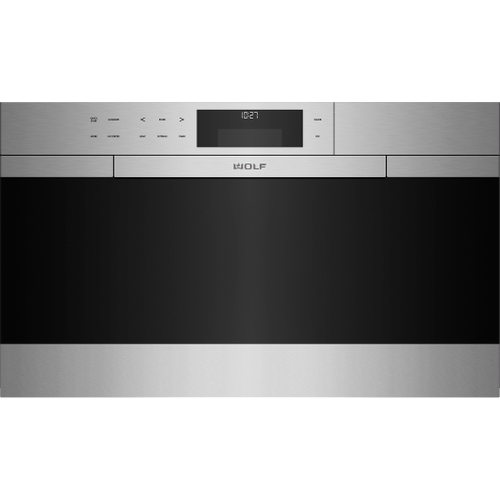 """Wolf - 30"""" M Series Contemporary Stainless Steel Convection Steam Oven with Retractable Handle"""