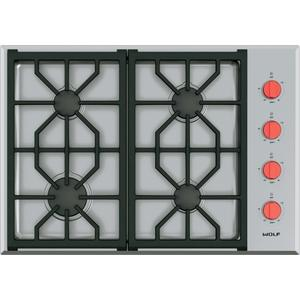 """Wolf30"""" Professional Gas Cooktop - 4 Burners"""