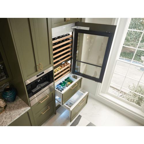 "Sub-Zero - 30"" Designer Wine Storage with Refrigerator/Freezer Drawers - Panel Ready"