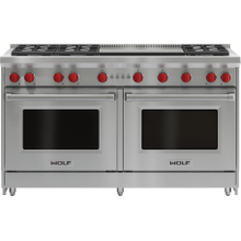 """See Details - 60"""" Gas Range - 6 Burners and Infrared Dual Griddle"""