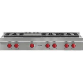 """48"""" Sealed Burner Rangetop - 6 Burners and Infrared Griddle"""