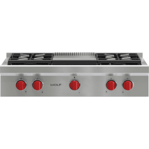 "Wolf - 36"" Sealed Burner Rangetop - 4 Burners and Infrared Griddle"