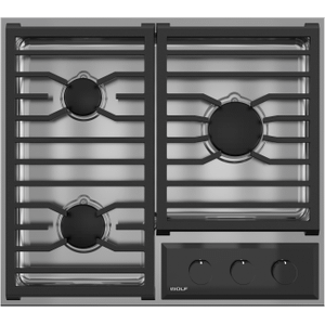 """Wolf24"""" Transitional Framed Gas Cooktop"""
