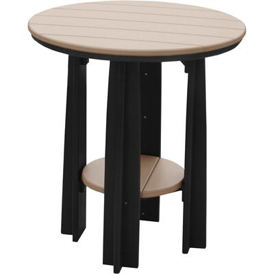 Balcony Table Weatherwood and Black