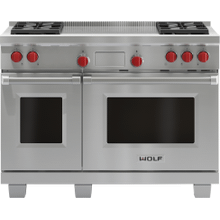 "Legacy Model - 48"" Dual Fuel Range - 4 Burners and French Top"