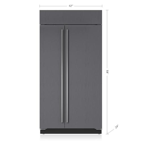 "Sub-Zero - 42"" Classic Side-by-Side Refrigerator/Freezer with Internal Dispenser - Panel Ready"