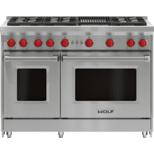 """See Details - 48"""" Gas Range - 6 Burners and Infrared Charbroiler"""