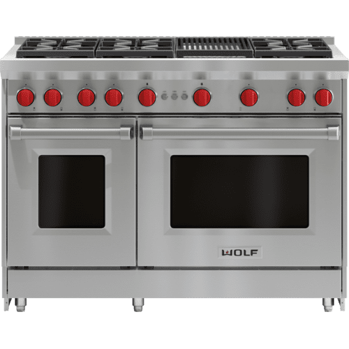 """Wolf - 48"""" Gas Range - 6 Burners and Infrared Charbroiler"""