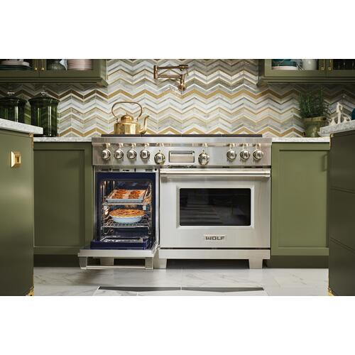 """Legacy Model - 48"""" Dual Fuel Range - 4 Burners, Infrared Charbroiler and Infrared Griddle"""