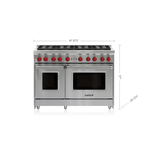 "Wolf - 48"" Gas Range - 8 Burners"