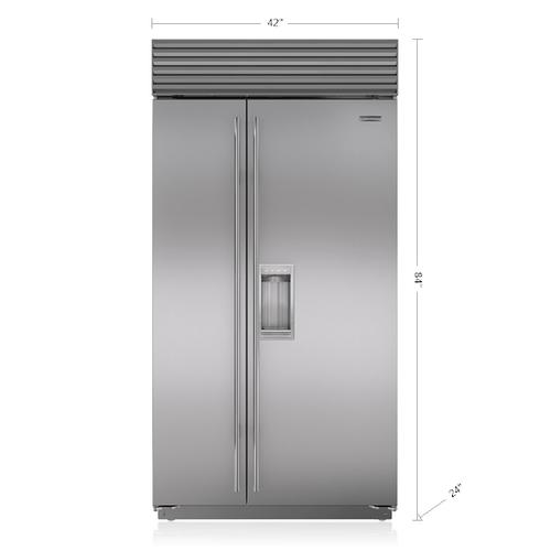 "Sub-Zero - 42"" Classic Side-by-Side Refrigerator/Freezer with Dispenser"