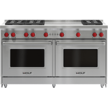 """See Details - 60"""" Gas Range - 6 Burners and French Top"""