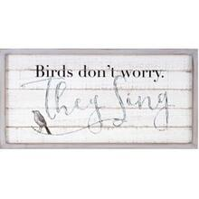 TY Songbird Inspirational Wall Decors - Birds Don't Worry