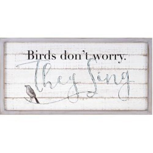 TY Songbird Inspirational Wall Decors - Birds Don't Worry