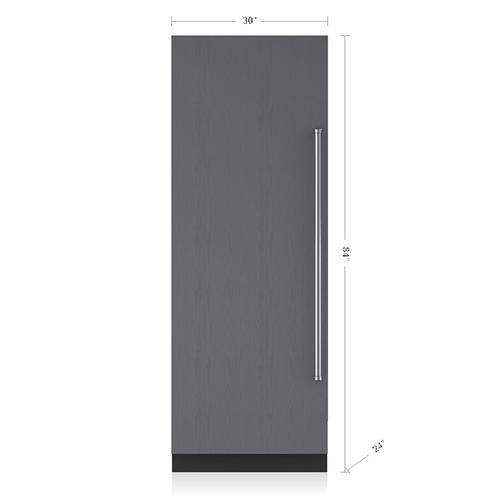 "Sub-Zero - 30"" Designer Column Freezer with Ice Maker - Panel Ready"